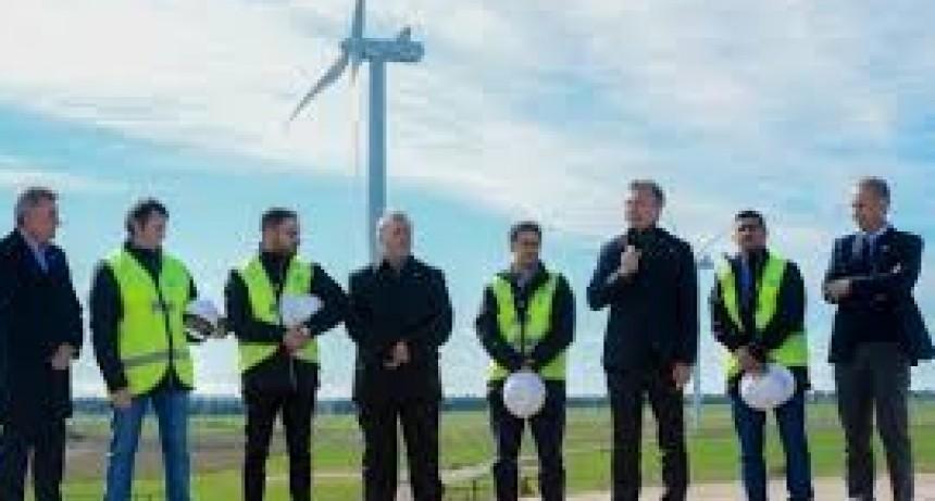 El presidente inauguró un parque Eólico en la provincia de Chubut