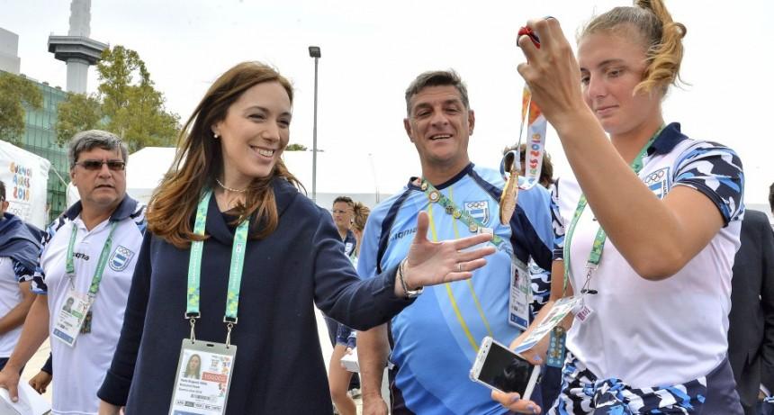 Vidal se reunió con atletas bonaerenses de la Villa Olímpica