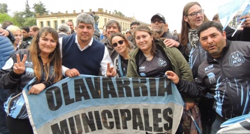 Trabajadores olavarrienses participaron de la movilización a Luján