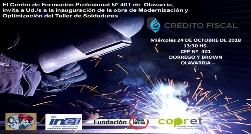 El CFP 401 inaugura una obra en el Taller de Soldaduras