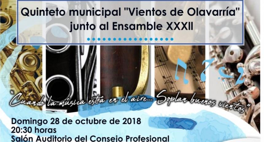 Nuevo Concierto del Quinteto Municipal 'Vientos de Olavarría'