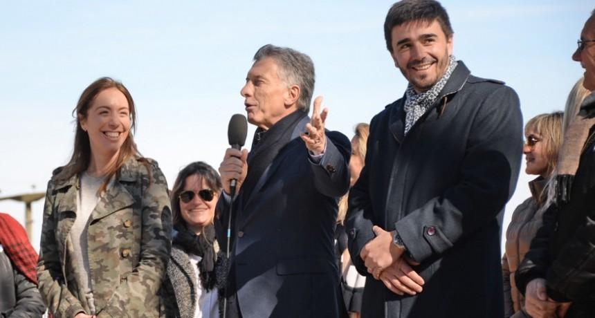 Macri y Vidal en Olavarría