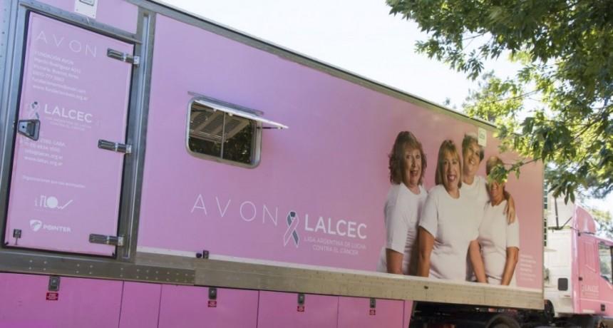 El Camión LALCEC AVON, llega a Olavarría