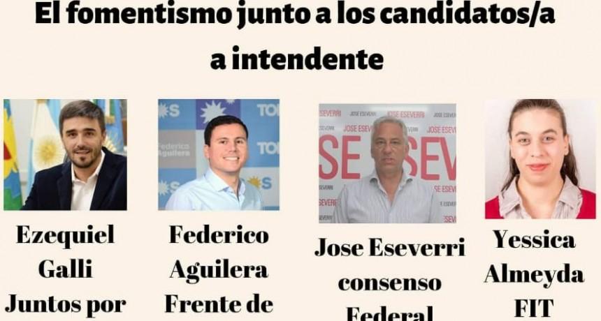 El Fomentismo junto a candidatos y candidata a intendente