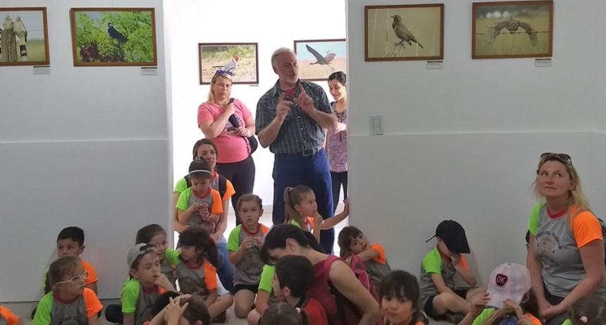 Muestra de aves pampeanas en el Centro de Interpretación Ambiental