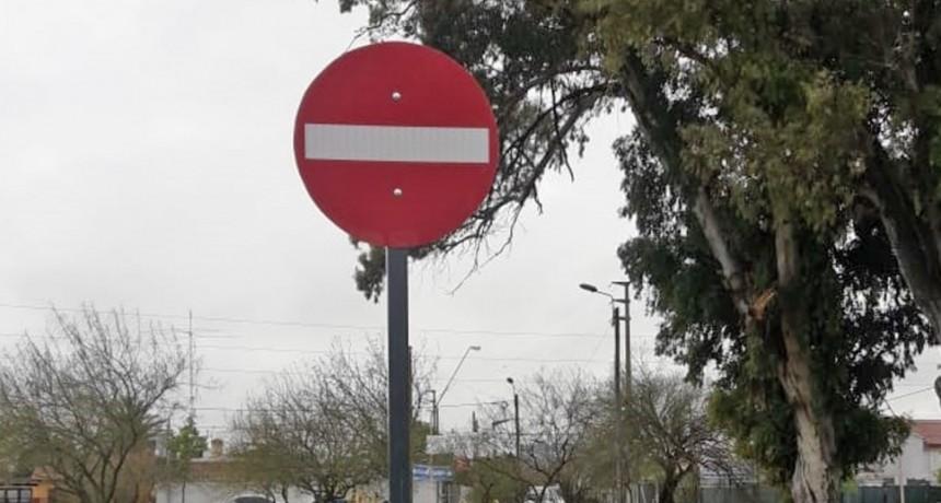 Control Urbano: demarcación vial y colocación de cartelería