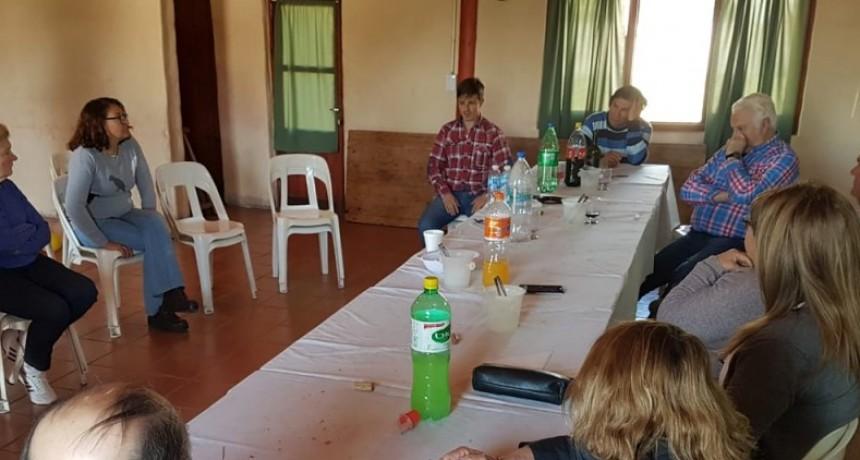 Marinangeli visitó localidades rurales