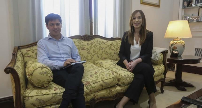 Reunión de la Gobernadora Vidal con el Gobernador electo  Kicillof