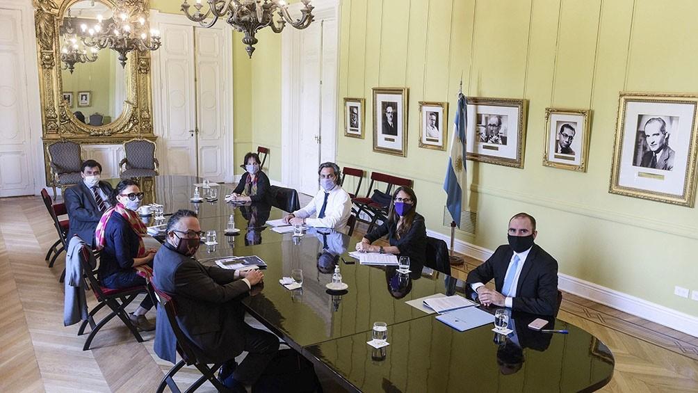 El gabinete económico se volverá a reunir esta tarde en la Casa Rosada