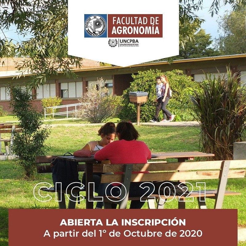 Ingreso 2021: Inscripción abierta en Facultad de Agronomía