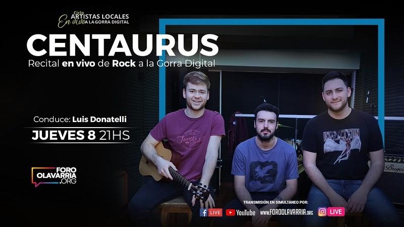 La banda local Centaurus en vivo por las redes del Foro Olavarría