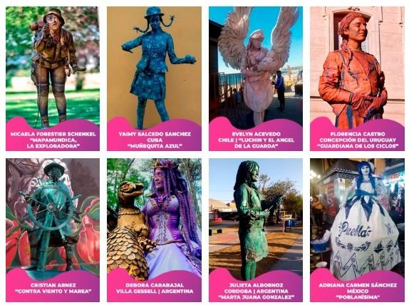 Se desarrolla el sexto Festival Internacional de Estatuas Vivientes Olavarría