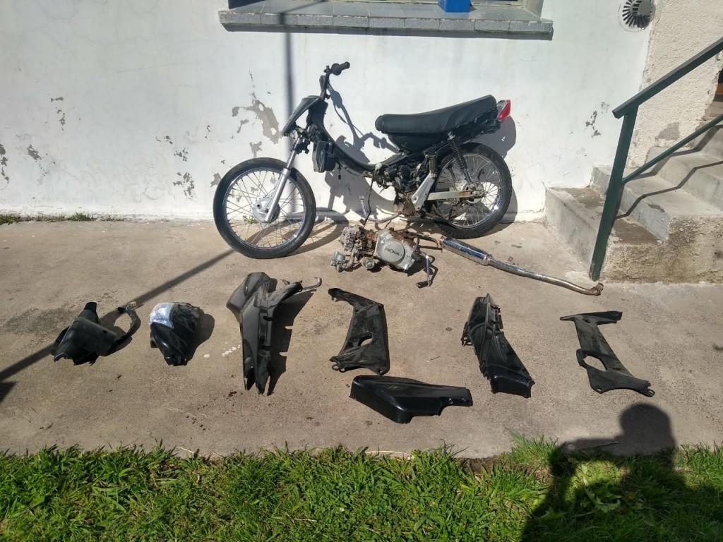 Hurto: recuperaron una motocicleta