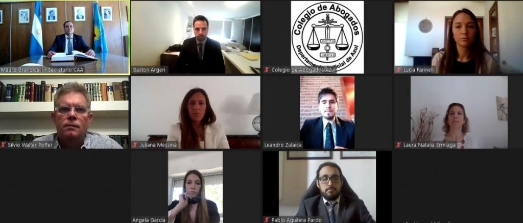 Cuarta jura virtual del Colegio de Abogados Departamental