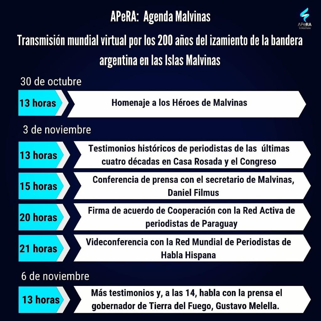 Celebran el Bicentenario del izamiento de la Bandera Argentina en Malvinas