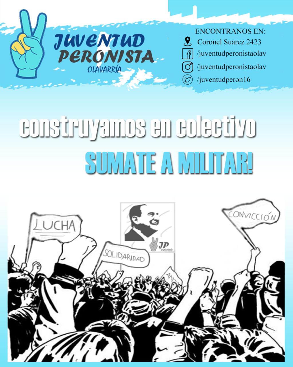 Desde la Juventud Peronista invitan a sumarse a militar