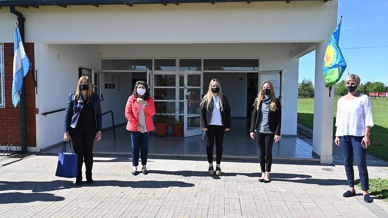 Vila visitó algunos de los distritos que iniciaron paulatinas clases presenciales