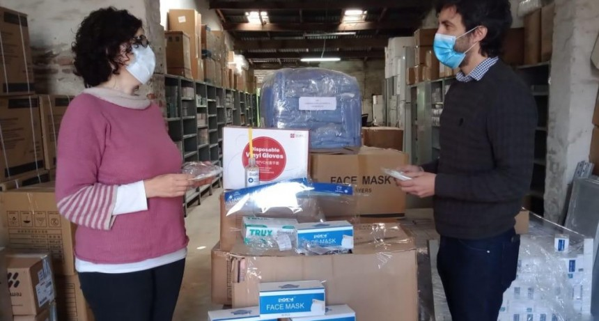 Tras los cruces, Región Sanitaria entregó insumos en Olavarría