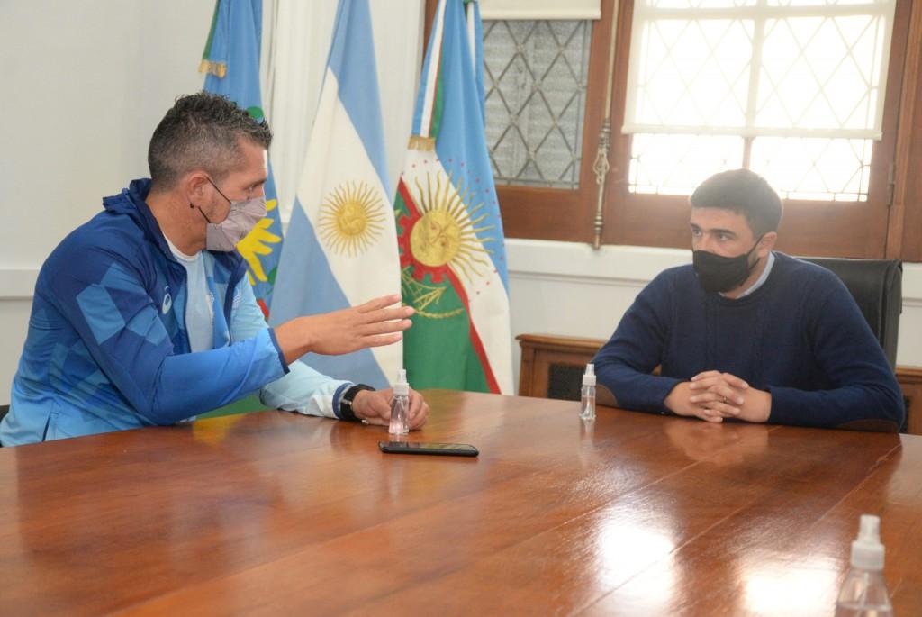El Intendente recibió a Lucas Díaz Aspiroz