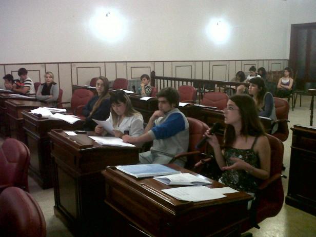 Sesionó este jueves el Concejo Deliberante Estudiantil