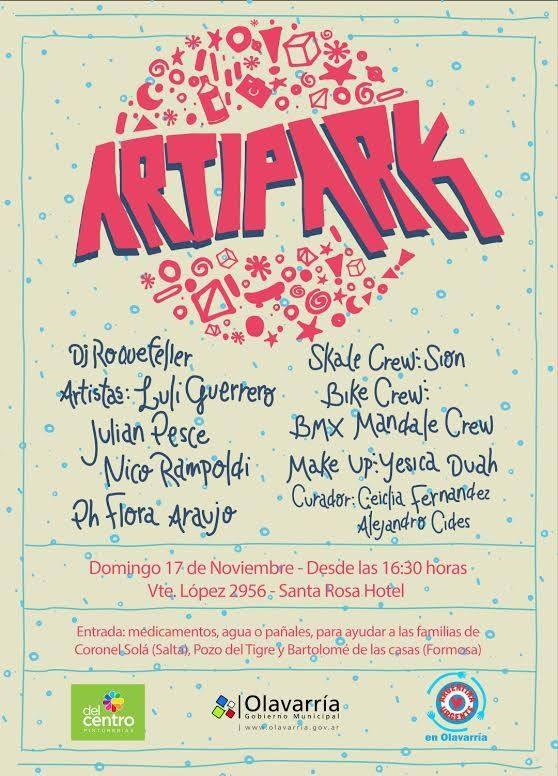 Artipark en Olavarría: la fiesta cultural solidaria para toda la familia