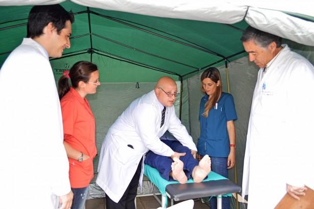 Azul: comenzaron las actividades por la Semana del Pie Diabético en el Veredón Municipal