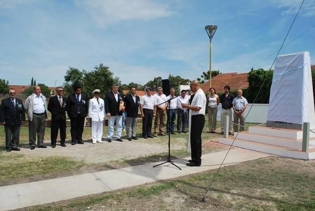 El Intendente Eseverri encabezó la inauguración del Monumento en Homenaje al Crucero Gral. Belgrano