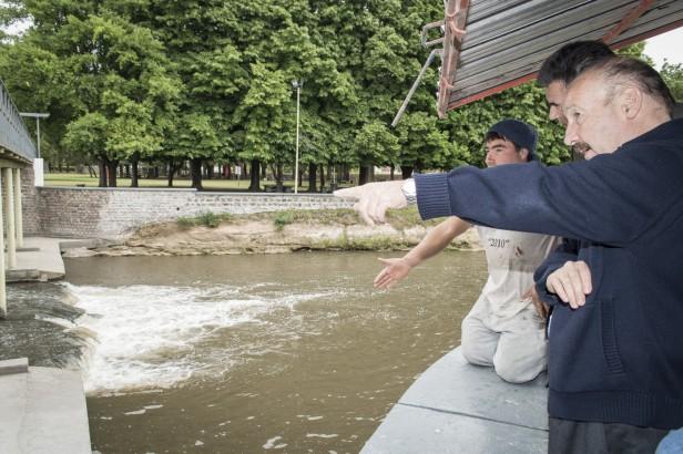 Azul: Inza y Bolpe supervisaron las obras que el Gobierno Municipal lleva adelante en el Balneario