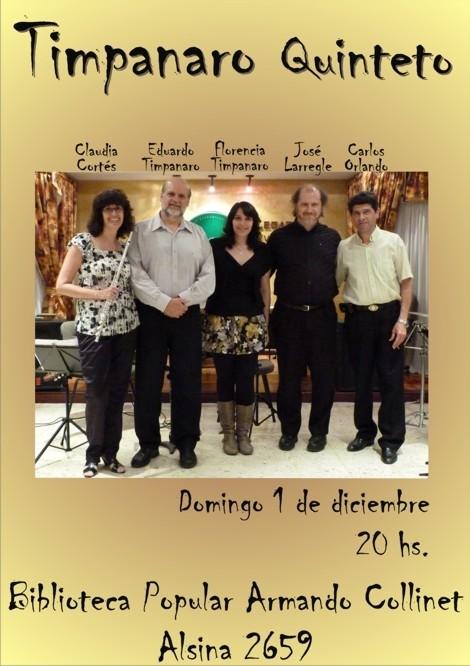 Recital de Timpanaro Quinteto