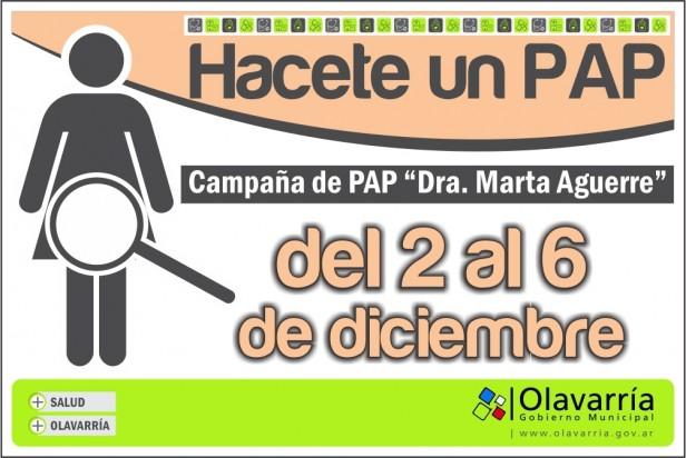 """Campaña de Pap """"Dra. Marta Aguerre"""": del 2 al 6 de diciembre en centros de salud de Olavarría"""