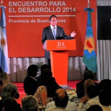 """Scioli encabezó """"Encuentro Para el Desarrollo 2014"""""""