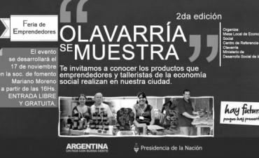 """Feria de emprendedores de la economía social """" Olavarría se muestra"""""""