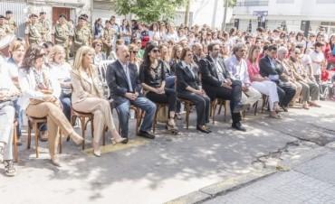 Azul: Inza participó del acto por el 25º aniversario del Colegio Mariano Moreno