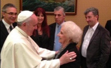Ignacio Montoya Carlotto con el Papa Francisco