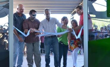 Eseverri encabezó el acto inaugural de las obras de reacondicionamiento en el Aeródromo