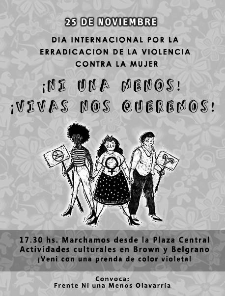 Día mundial por la erradicación de la violencia contra las mujeres