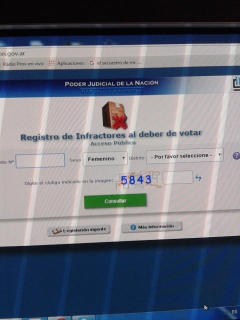 Balotaje: justificación de no emisión de voto