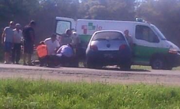 Accidente de tránsito en Ruta Nacional Nº 3 km 301