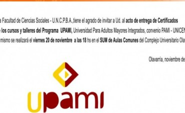 Entrega de certificados de UPAMI