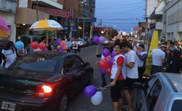 Festejos sobre la calle Rivadavia
