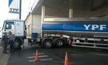 La suba de combustibles YPF llegó también a Olavarría