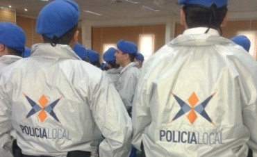 Policía local: los recientes egresados ya recorren la ciudad.