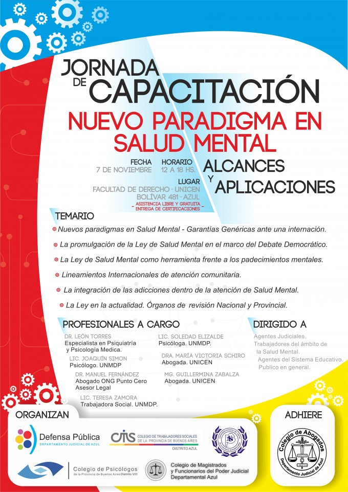 Convocan a capacitación en el nuevo paradigma de la Salud Mental