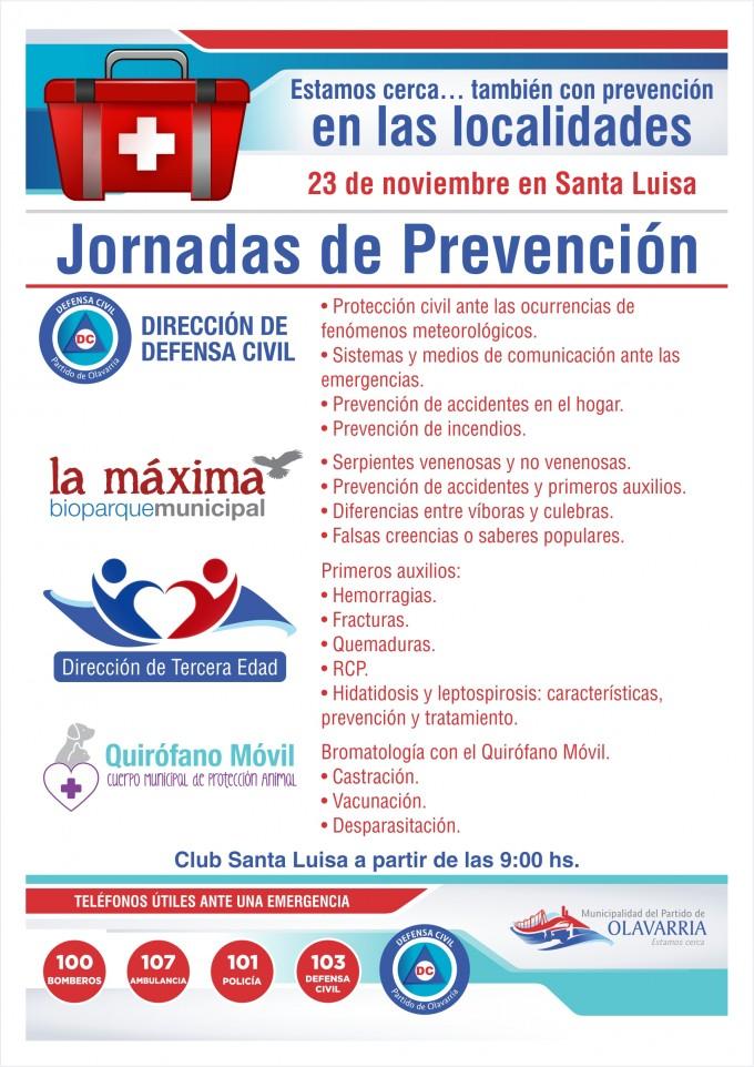 Jornada de prevención para la comunidad en Santa Luisa