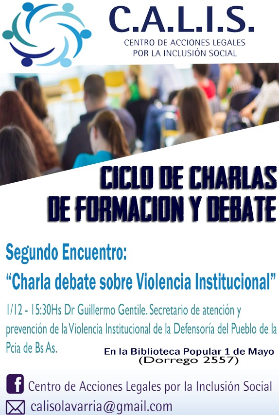 Charla debate sobre Violencia Institucional