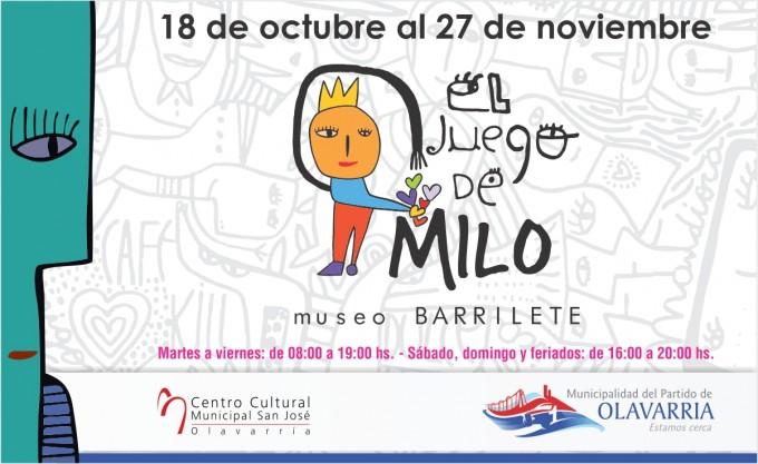 Cierra la muestra El juego de Milo en el Centro Cultural