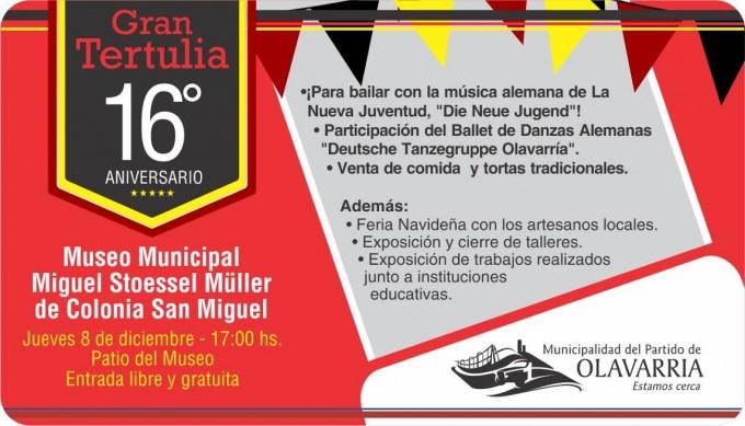 Variadas propuestas por el 16º Aniversario del Museo Municipal de Colonia San Miguel