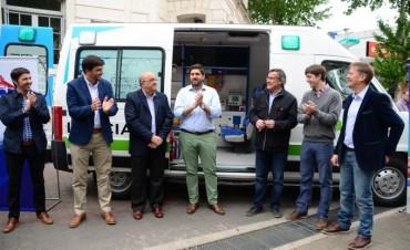 Nueva ambulancia para Olavarría: el intendente hizo la presentación