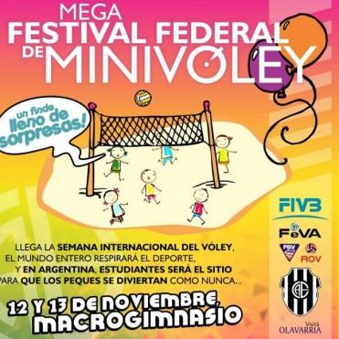 Ya llega el Mega Festival Federal de Minivoley