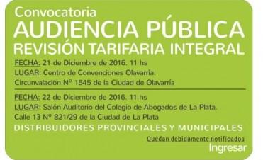 OCEBA anuncia dos audiencias públicas por la tarifa de energía, una será en Olavarría